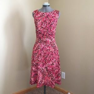 Dress Barn A-line Sleeveless Dress Ruched Waist